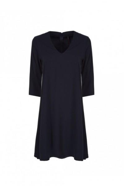 Женское платье с лампасами по бокам