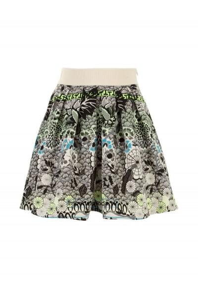 Женская юбка цветастая