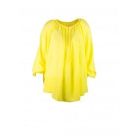 IMPERIAL Кофта-блузка женская желтая с коротким рукавом CCK5NCP