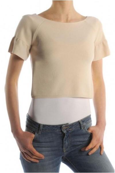 Женская кофта короткая с оборками на рукавах KONTATTO - 3M7028
