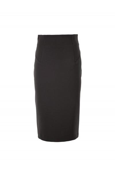 Женская юбка классическая черная