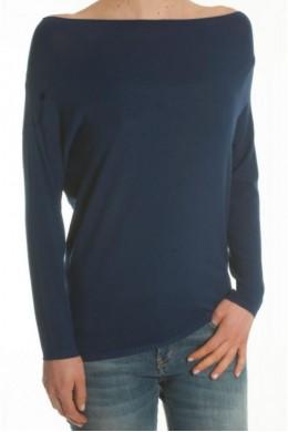 Кофта женская удлинённая с открытыми плечами, длинным рукавом KONTATTO - 3M7019