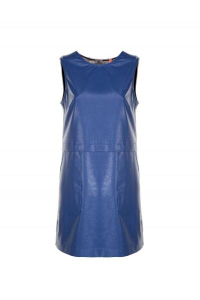 IMPERIAL Женское платье AQR8RHY прямое из искусственной кожи без рукавов