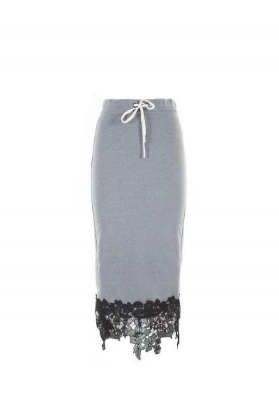 Женская юбка деловая длинная