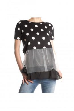 Блуза женская стильная в горох K222
