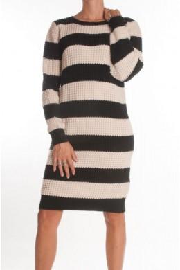 Женское платье в полоску элегантное KONTATTO - 3M1719