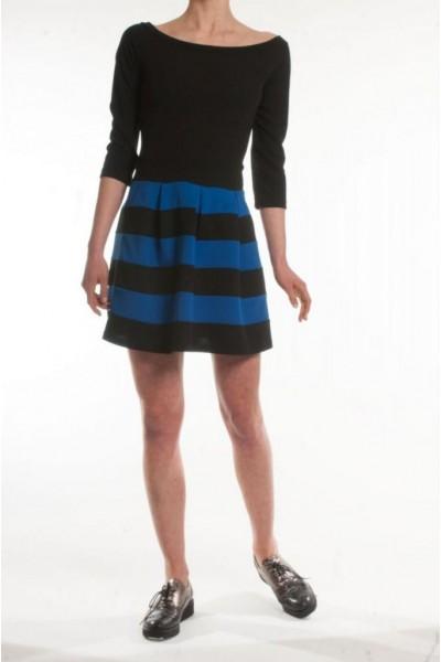 Платье женское, юбка в полоску