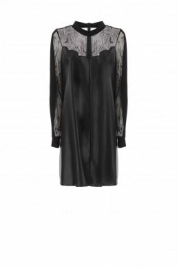 IMPERIAL Женское платье из искусственной кожи с кружевной вставкой  AYW1WJV