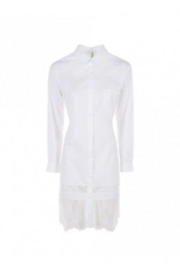 IMPERIAL Рубашка женская CEK3RNF длинная с кружевной оборкой