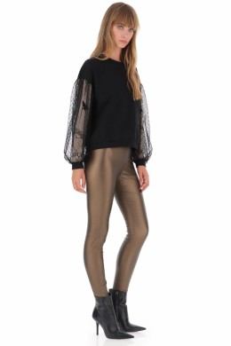 Женские брюки IMPERIAL -скинни из искусственной кожи PSU8WFO