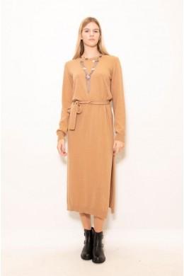 KONTATTO Платье женское с разрезом сбоку 3M4250