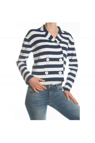 Пиджак женский в полоску с пуговицами KONTATTO -3M7048