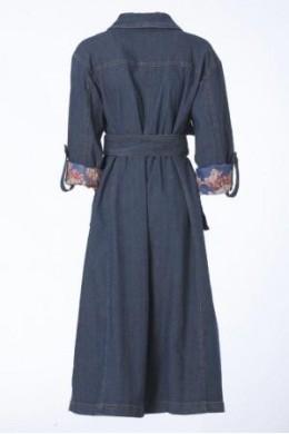 Женское пальто джинсовое  4003